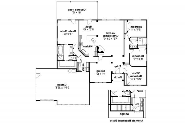 Ranch House Plan - Clearfield 30-318 - Floor Plan