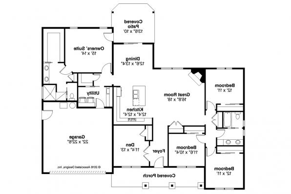 Ranch House Plan - Hyacinth 31-094 - Floor Plan