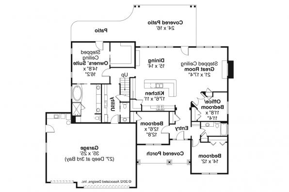 Ranch House Plan - Jamestown 30-827 - Floor Plan
