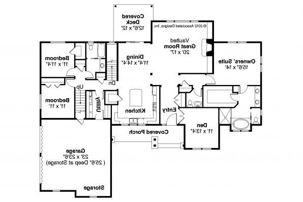 Ranch House Plan - Manor Heart 10-590 - Floor Plan