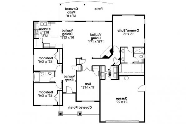 Ranch House Plan - Riverside 30-658 - Floor Plan