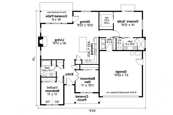 Ranch House Plan - Stowe 31-138 - Floor Plan