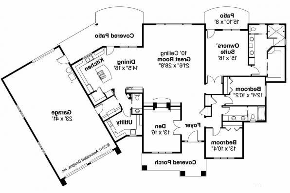 Shingle Style House Plan - Oakshire 30-770 - Floor Plan