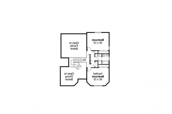 Southwest House Plan - Artesia 10-168 - Second Floor Plan