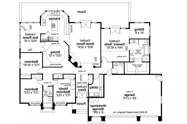 Southwest House Plan - Cibola 10-202 - Floor Plan
