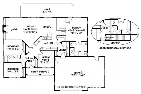 Southwest House Plan - Northrup 30-096 - Floor Plan