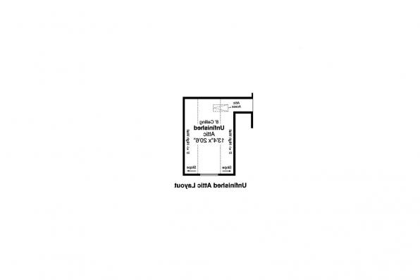 Traditional House Plan - Helena 31-199 - Attic Layout