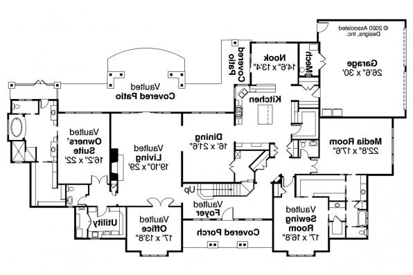 Traditional House Plan - Monticello 30-734 - 1st Floor Plan