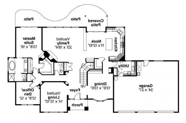 Traditional House Plan - Colfax 30-224 - 1st Floor Plan