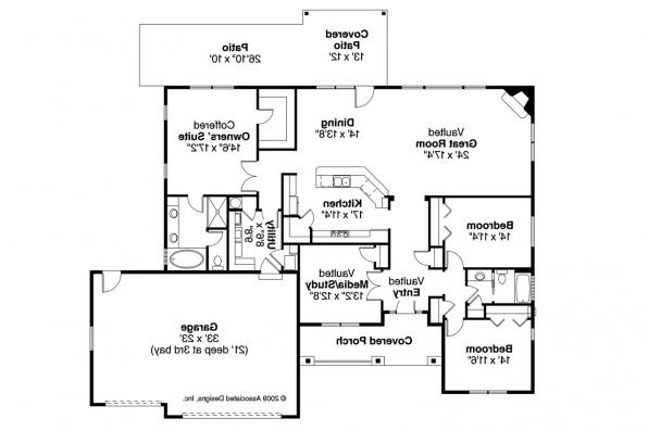 Traditional House Plan - Green Valley 70-005 - Floor Plan