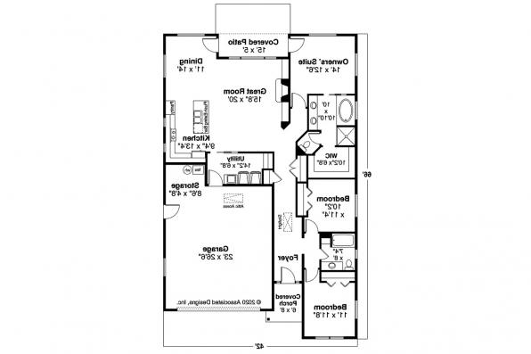 Traditional House Plan - Helena 31-199 - First Floor Plan