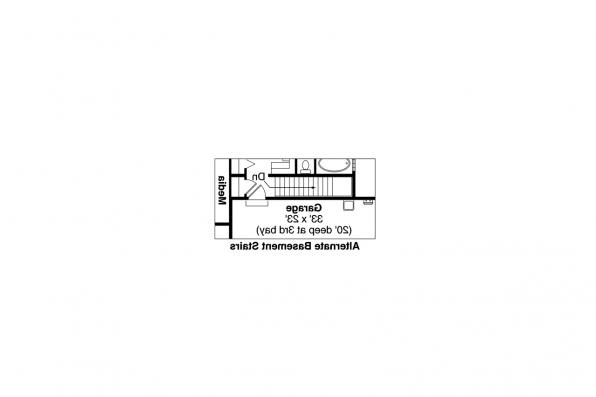 Traditional House Plan - Springwood 30-772 - Alt. Basement Stair