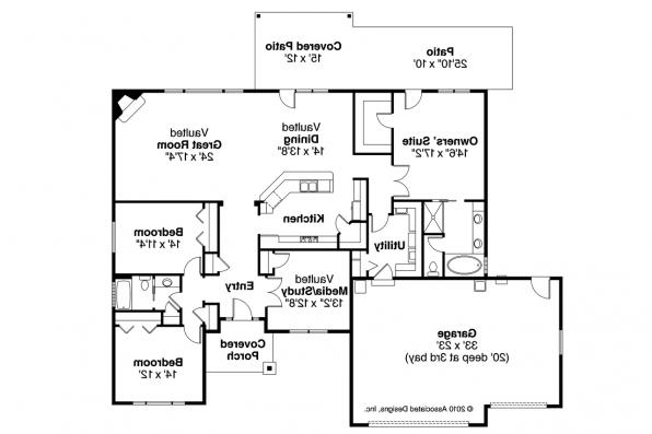 Traditional House Plan - Springwood 30-772 - Floor Plan