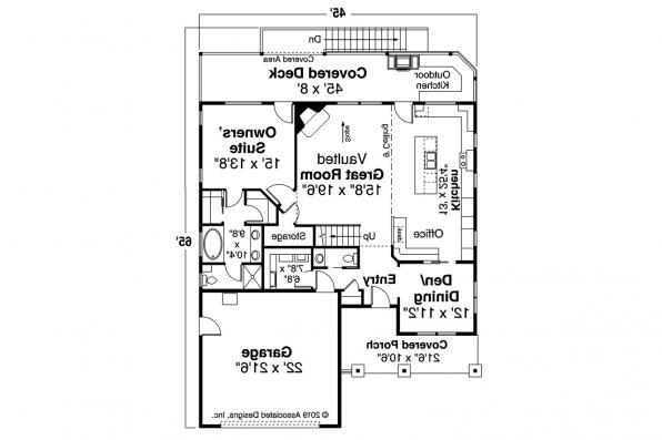 Sloped Lot House Plan - Foxboro 31-153 - First Floor