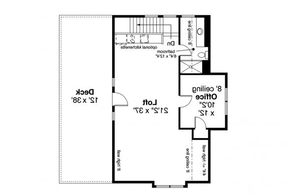 Garage Plan 20-061 - Second Floor Plan