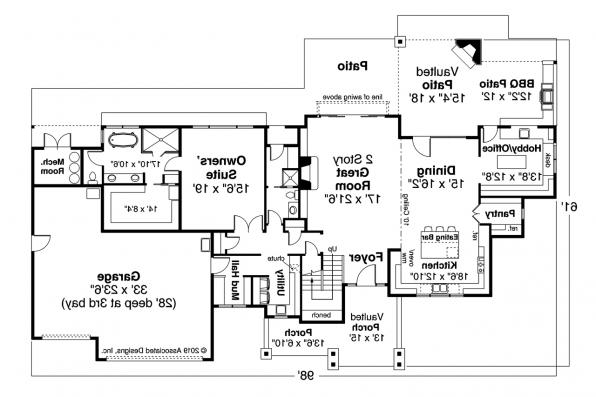 Lodge Style Home Plan - Eatonville 31-165 - First Floor