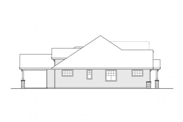 1-Story House Plan - Laceflower 31-118 - Left Elevation