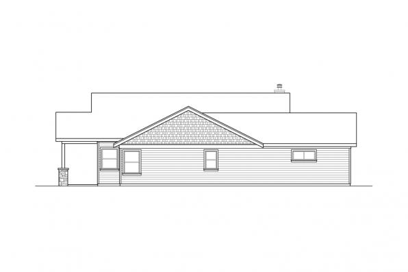 1-Story House Plan - Multnomah 31-121 - Right Elevation