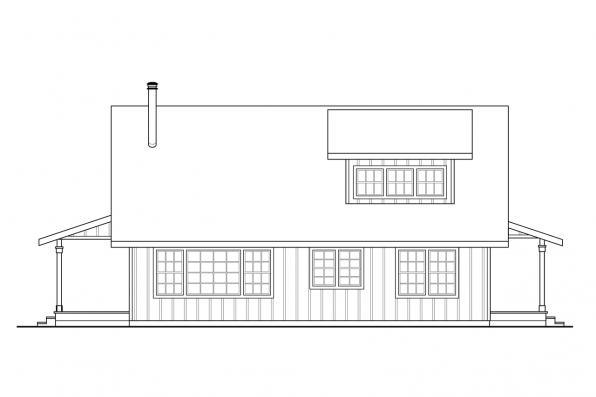 Vacation House Plan - Mosier 31-238 - Right Elevation