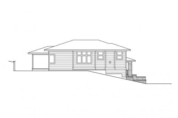 2-Story House Plan - Alpenglow 31-115 - Right Elevation