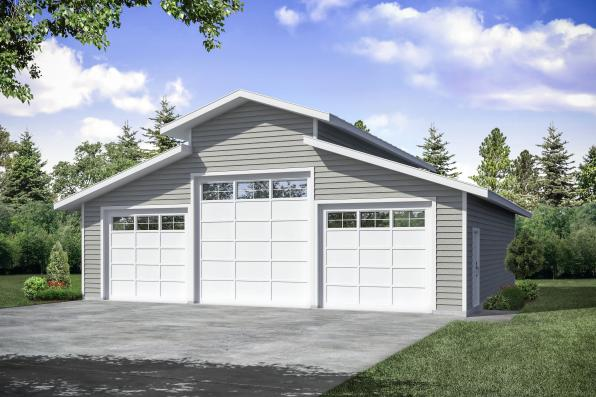 Traditional Garage Plan 20-274 - Front Exterior