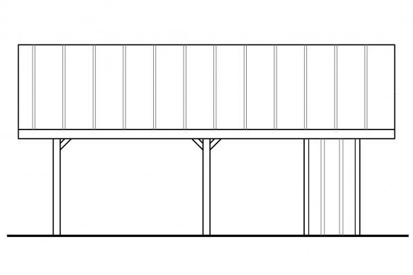 2 Car Garage Plan 20-094 - Left Elevation