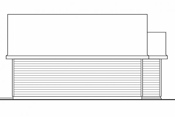 2 Car Garage Plan 20-035 - Left Elevation