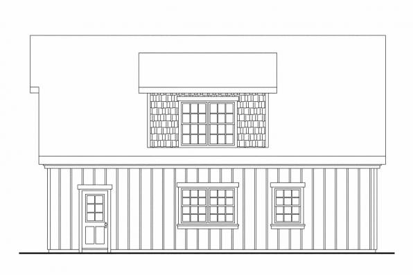 2 Car Garage Plan 20-061 - Left Elevation