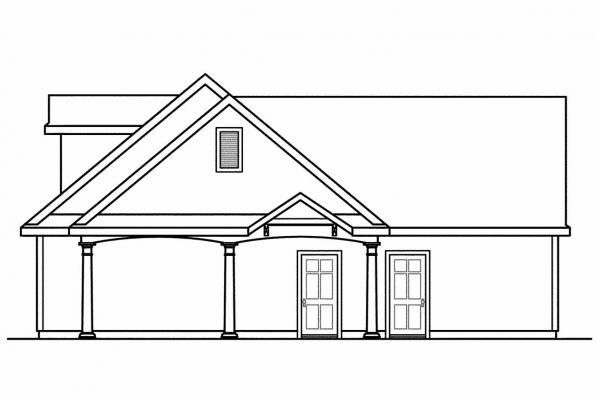 2 Car Garage Plan 20-075 - Left Elevation