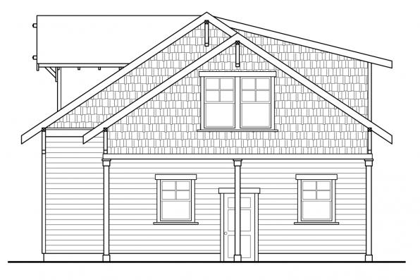 2 Car Garage Plan 20-111 - Left Elevation