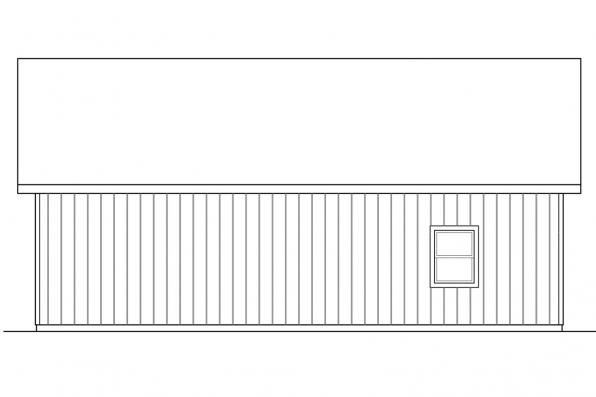 2 Car Garage Plan 20-154 - Left Elevation