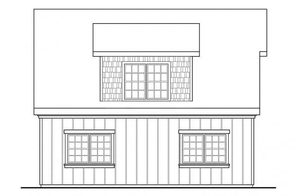 2 Story Garage Plan 20-087 - Right Elevation