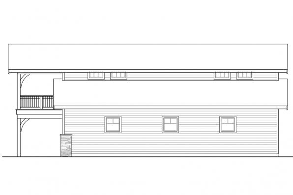 2 Story Garage Plan 20-144 - Left Elevation