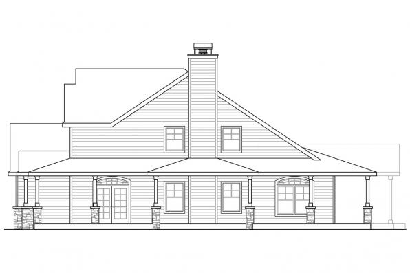 2 Story House Plan - Anchorage 30-930 - Left Elevation