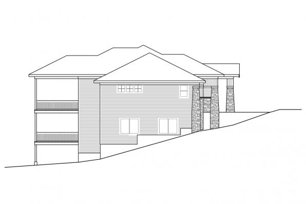 3 Bedroom House Plan - Brandywine 31-125 - Right Elevation