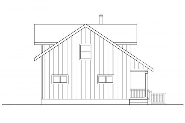 Lodge Style Home Design Timber Hill 31-122 - Rear Elevation