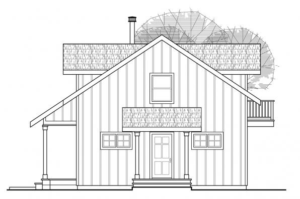 A-Frame House Plan - Arnett 30-419 - Front Elevation