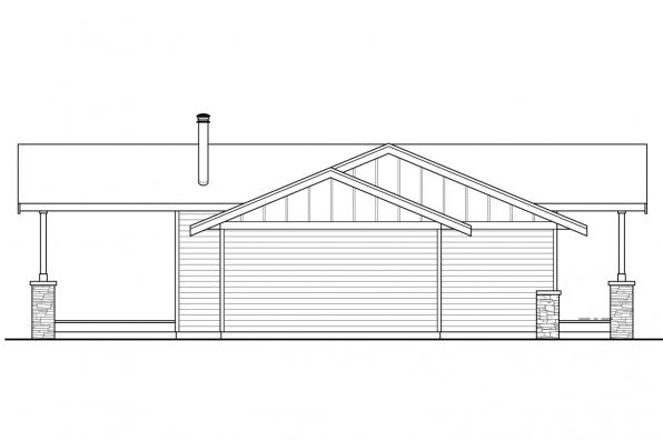 Beach House - Lakeville 30-998 - Right Elevation