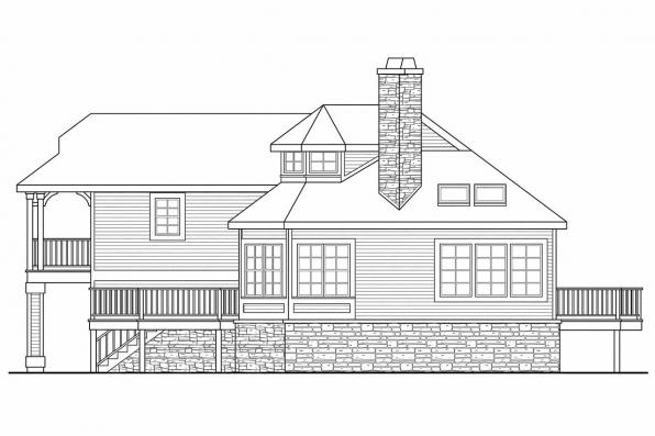 Beach House Plan - Eagle Creek 30-725 - Rear Elevation