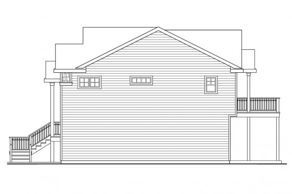 Beach House Plan - Snowberry 30-735 - Left Elevation