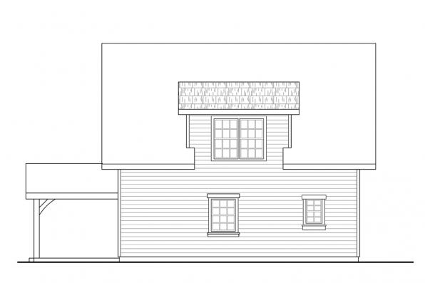 Bungalow House Plan - Bayberry Cottage 31-248 - Rear Elevation