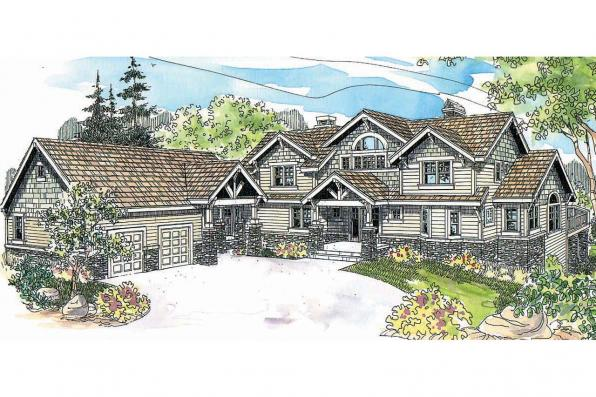 Bungalow House Plan - Colorado 30-541 - Front Elevation