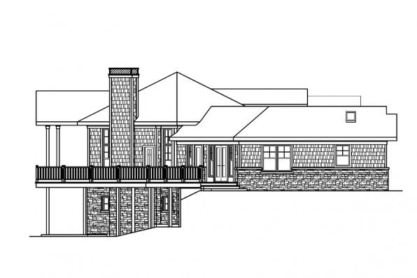 Bungalow House Plan - Crestview 10-532 - Right Elevation
