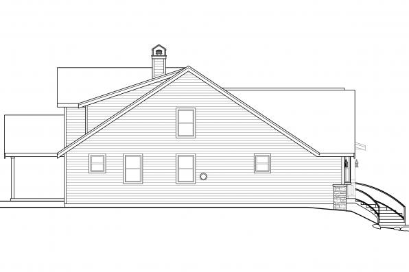 Bungalow House Plan - Springvale 30-950 - Right Elevation