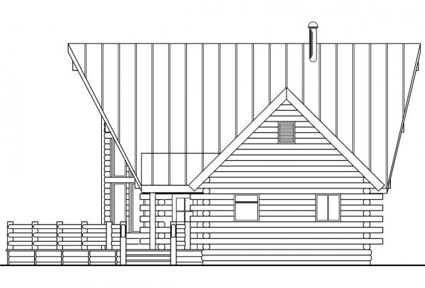 Cabin Plan - Altamont 30-012 - Left Elevation