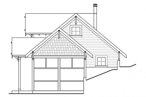 Cabin Plan - Northlake 30-504 - Left Elevation