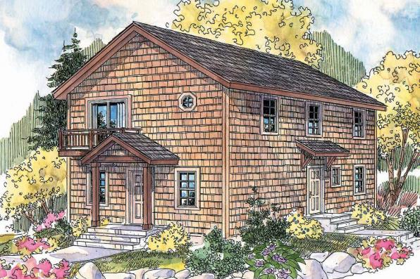 Cape Cod House Plan - Castor 30-450 - Front Elevation