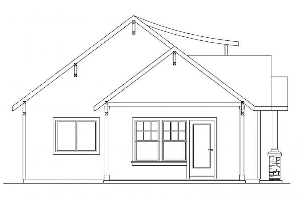 Cape Cod House Plan - Colebrook 30-528 - Right Elevation