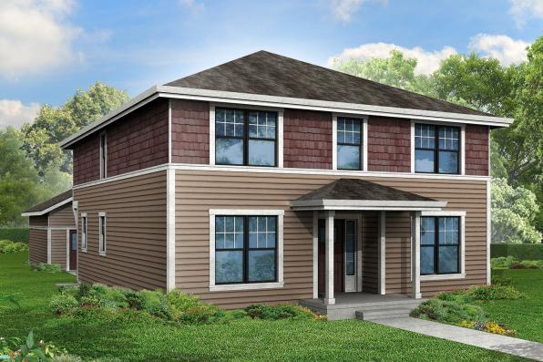 Cape Cod House Plan - Hanover 30-668 - Front Elevation