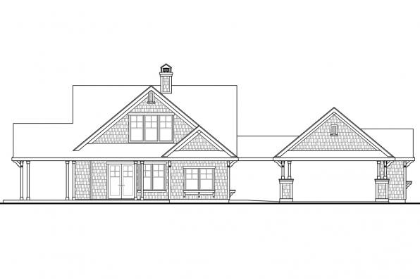Cape Cod House Plan - Longview 50-014 - Left Elevation